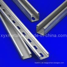 C und U geschlitzten perforierten verzinkten geformten Stahl Profil Streben Kanal