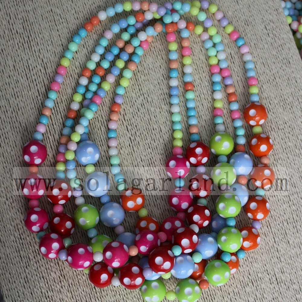 Polka Dot Bead Necklace