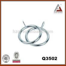 Q3502 anillo de la barra de la cortina del metal, accesorios de la barra de la cortina, anillo plástico de la barra de la cortina