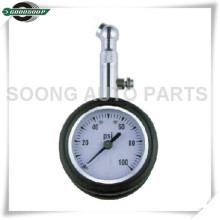 Dial Metal Tire Gauge Dial medidor de pressão dos pneus com válvula de liberação de ar