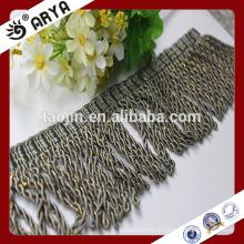 Vorhang Zierleder Grau Perlen Quaste Fransen für Vorhang Zubehör, Hangzhou Hersteller