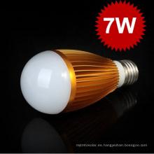 Alta calidad 7W LED Bombilla E27 Bombillas Bombilla LED Bombilla AC85-265V