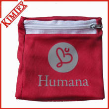 Micro-Fiber Polyester Wallet Wristband with Zipper Pocket