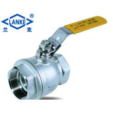 2PC Korea Typ 1000 Psi Float Kugelhahn in Reduce Bohrung