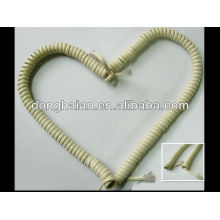 Spiral home telephone cable 4P4C RJ11