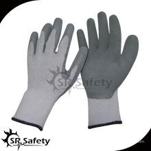 SRSAFETY 10 Gauge Grey Polycotton Liner с покрытием Серые латексные женщины в резиновых перчатках