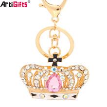 Porte-clés Fabricant Chine Personnalisé Bijoux Pas Cher Diamant Or Couronne Porte-clés