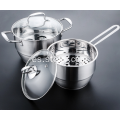 Set de utensilios de cocina de acero inoxidable Steam Pot Pot Milk Pot