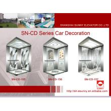 Cabine do elevador com o teto branco da iluminação do acrílico (SN-CD-155)