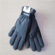 Горячих продавая пряжки зимние черные мужские флисовые перчатки