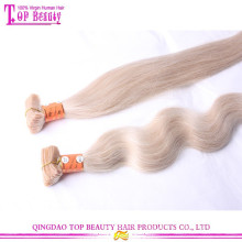 Erstklassige heiße Verkauf blonde 613 Band Haarverlängerungen billig Remy Haut Schussband in Haarverlängerungen