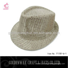 Cheap fedora hat for men white new cheap for promotional