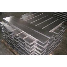 Barre plate en aluminium 2011, 2024