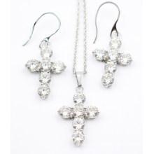 Mode & Ensemble de bijoux en acier inoxydable de haute qualité - Boucles d'oreille et pendentif