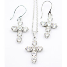 Moda e jóias de aço inoxidável de alta qualidade conjunto - brinco e pingente