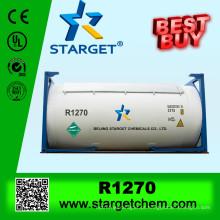 99,9% de pureza r1270 gás refrigerante com pouco efeito estufa