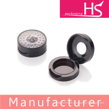 round shaped compact powder case