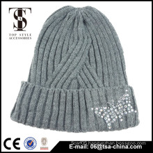 Fashion Autumn And Winter Women's Beanies Natural Knitted