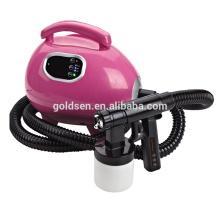 Cama de bronzeamento interior pequena Body Mini HVLP Spray elétrico Tan Gun Profissional Airbrush Início DIY Portable Sun Tanning Machine