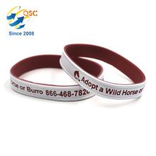 Customized logo Sports Double color bracelet