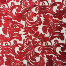 Tissu de broderie de fil de vente chaude classique