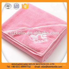 220gsm personalizar logo con bolsillo con cremallera llano teñido toalla microfibra deporte