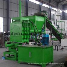 Máquina hidráulica horizontal de ensacado de madera