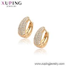 96848 xuping mode 18K or couleur cerceau boucle d'oreille en or pour les femmes