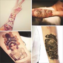 Autocollants autoadhésifs de tatouage autocollants personnalisés pour les hommes