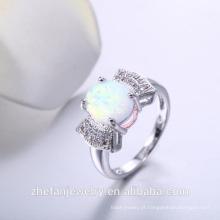 Anel 925 prata esterlina zirconia casamento noivado