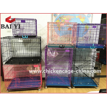 Grande cage de transport de chien pliable en métal en plein air