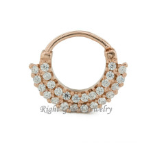 16G vergoldet indische Nase Ring Diamant 24K Gold Nase Piercing