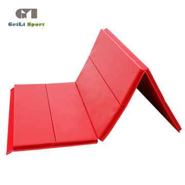 Workout Red Folding Gym Große Matte