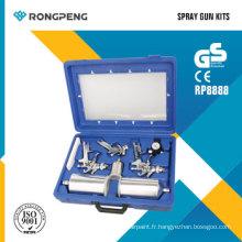 Kits de pistolet de pulvérisation d'air de Rongpeng R8888 9PCS HVLP