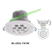 7W LED Light LED Downlight LED Plafonnier