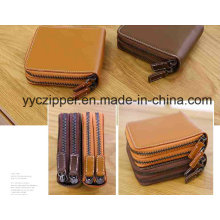 3# Colorful Plaiting Metal Zipper for Wallet