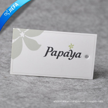 Hot Sell Hang Paper Tag for Garment Without MOQ