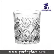 Coupe en verre à whisky gravé de style français de 8 oz (GB040908ZS)