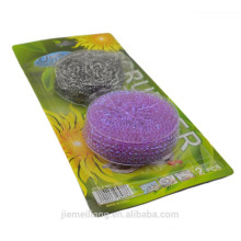 Best Selling products stainless steel ball scourer plastic ball scourer 2PK/set hot sales