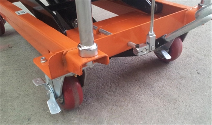Foot Lift Drive Scissor Lift Trolley