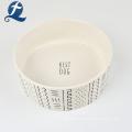 New Arrive Printed Portable Ceramic Pet Water Feeding Dog Food Bowl