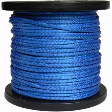 12strands UHMWPE Winch Rope Blue With Reel