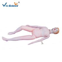 Modelo de manequim multifuncional para atendimento ao paciente feminino