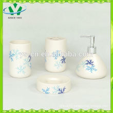 2015 Snowflake Bathroom Accessory with Decal