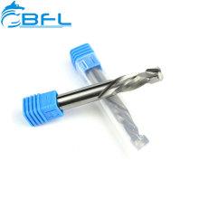 Cortador de fresado de extremo de compresión de carburo sólido BFL sin recubrimiento para madera