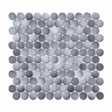 Gradient Grey Color Bathroom Penny Round Porcelain Ceramic Mosaic