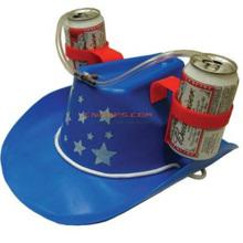 Sombrero de encargo de la cerveza del vaquero con la paja potable para el día de fiesta de St Patrik