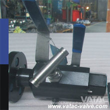 Flange Rtj or RF with Thread Bsp or NPT Ends Double Block and Bleed Ball Valve (Twin or Double Ball)
