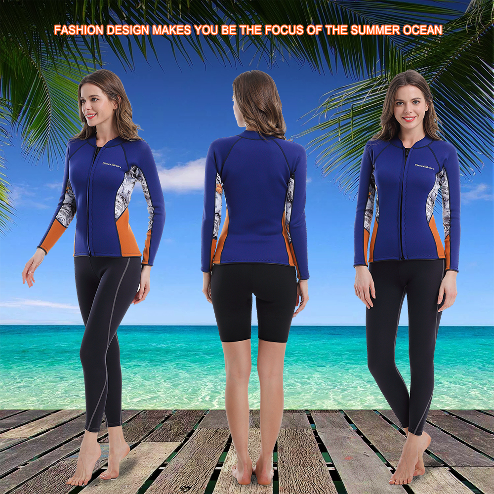 Womens Wetsuit Jacket Blue