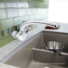 Two handles sink mixer kitchen faucet with brass material
